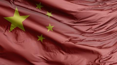China Flag Real Animation Loop Animation
