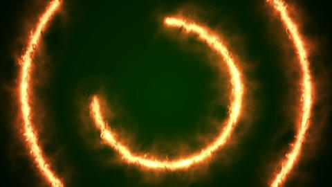 Beautiful Ring of Fire Looped Stock Video Footage