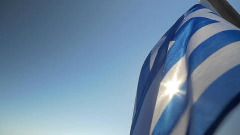 National Flag of Greece Footage