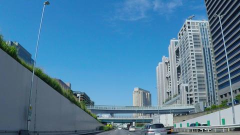 Tokyo, Metropolitan Expressway Wangan. Near Odaiba / Footage