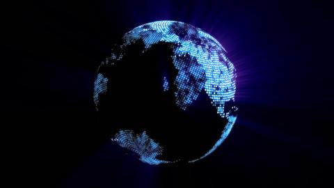 1080p Loopable: Digital Globe / Digital World / Technology Abstract Footage