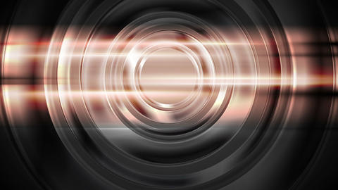 Abstract glowing glossy circles and shiny stripes Animation