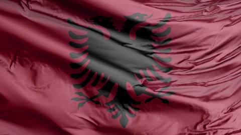 Albania Flag Real Animation Loop Animation