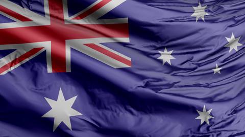 Australia Flag Real Animation Loop Animation