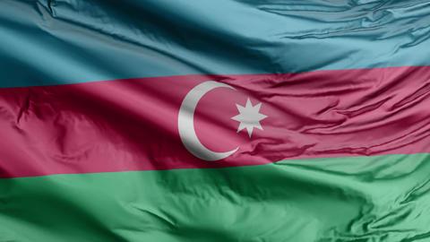 Azerbaijan Flag Real Animation Loop Animation