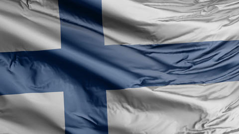 Finland Flag Real Animation Loop Animation