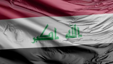 Iraq Flag Real Animation Loop Animation