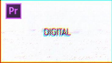 Glitch Titles モーショングラフィックステンプレート