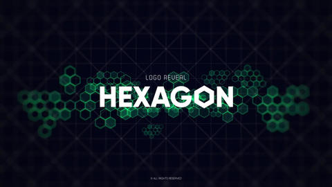 Logo - Technology Hexagon After Effectsテンプレート