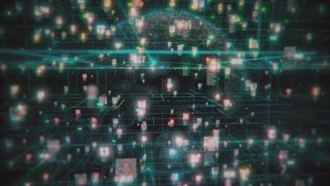 Social network people connection greed. Big data concept, flood of people Live Action