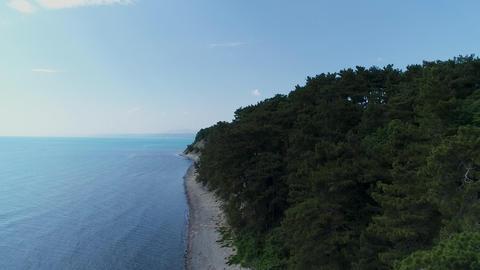 Black sea coast. Turquoise sea, camping, swimming tourists, tourism and Footage