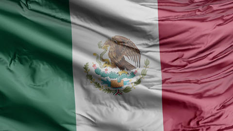 Mexico Flag Real Animation Loop GIF