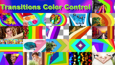 Transitions Color Control After Effects Template