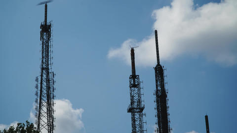 antennas and environmental pollution time lapse Footage