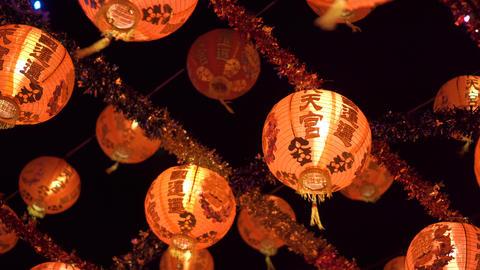 Orange lanterns hanging on ceiling. for celebration. Chinese new year Live Action