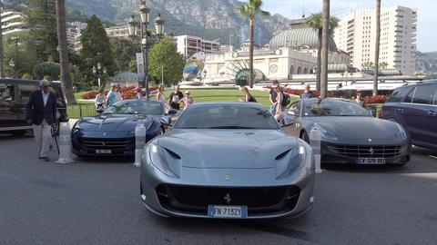 Man Parking A Ferrari 812 Superfast Footage