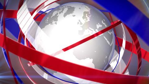 News Globe Backdrop Animation
