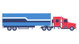 Big truck with trailer delivering cargo Footage