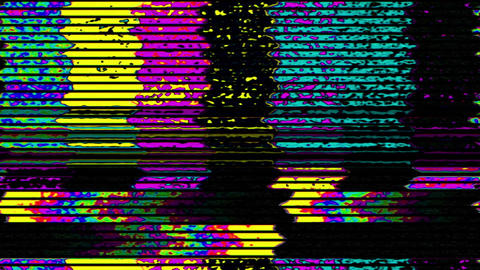 TV Noise 1001: TV color bars test card malfunction Animation