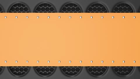 0914 Animated orange and black banner Footage