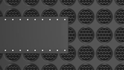 0907 Animated black banner Footage
