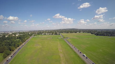 Aerial view of traffic at Blackheath Live Action
