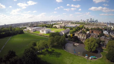 Aerial view of Greenwich park lake Live Action