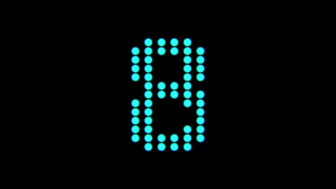 Countdown dot font Animation