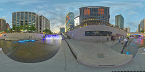 360 Degrees Panorama View Gyeongbokgung Palace and City Center in Seoul VR 360° Photo