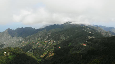 Aerial view of a huge and breathtaking valley, located in the lowlands of the Footage