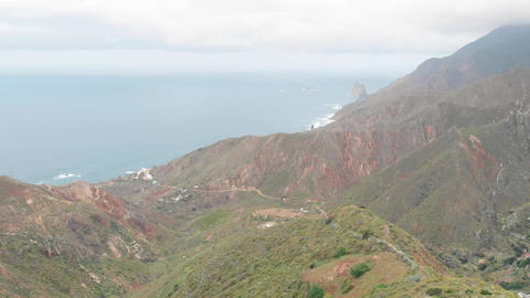 Aerial view. Panorama to the north of the island - beautiful green hills and the Footage