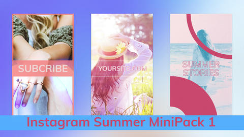 Instagram Summer Stories MiniPack Vol 1 After Effectsテンプレート