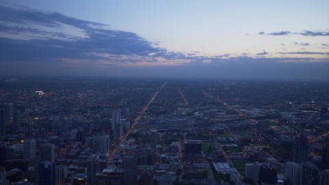 Chicago from above - amazing aerial view in the evening Footage