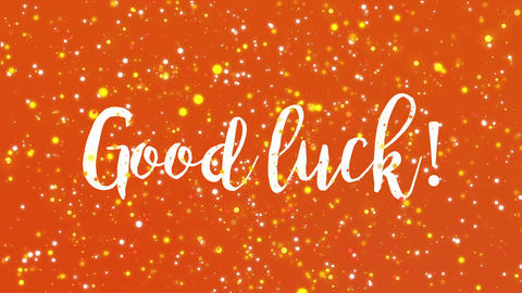 Good luck greeting card Animation