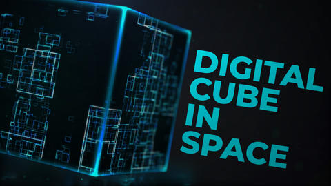 Digital Cube In Space (Logo Reveal) After Effects Template