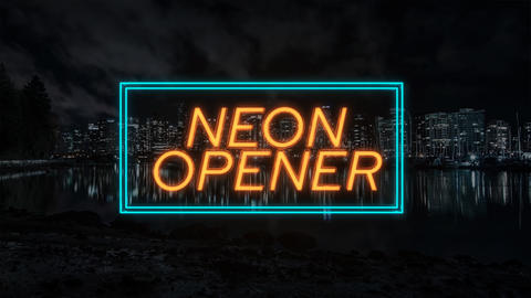 Neon Titles Opener After Effects Template