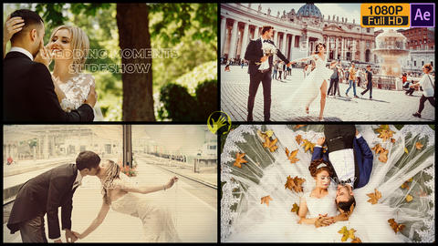Wedding Moments Slideshow After Effects Template