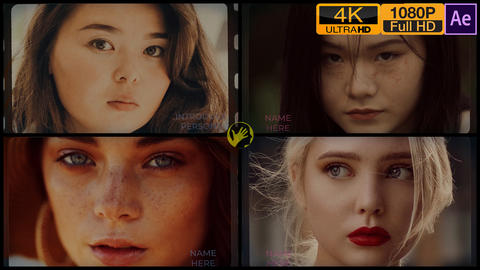 Faces Intro Slideshow After Effects Template
