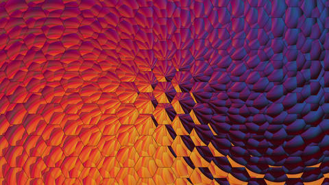 Hexagon Colored Background Animation