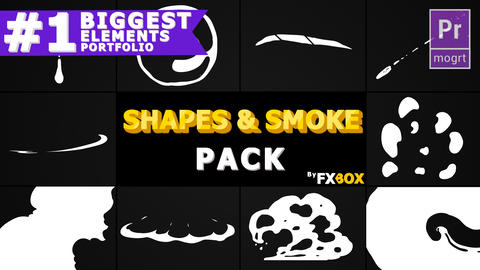 2D Shapes And Smoke Motion Graphics Template