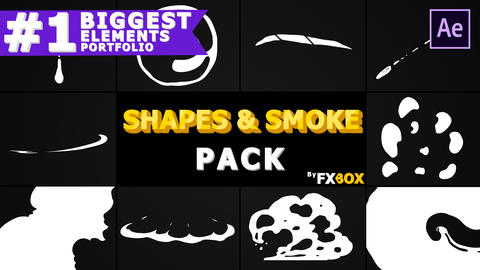 2D Shapes And Smoke After Effects Template