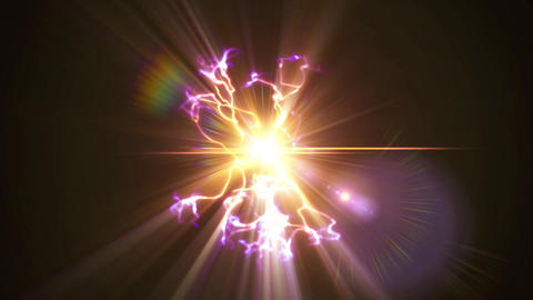 Light FX2117: Glowing plasma sparks and flickers with electricity Animation