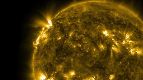 Sun surface animation. Nasa Public Domain Imagery Animation