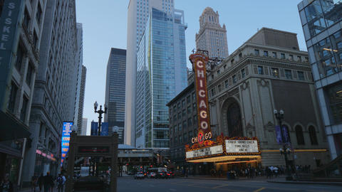 Famous Chicago Theater at State Street former Balaban and Katz Theater - CHICAGO Live Action