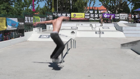 Cesar Afonso during the DC Skate Challenge Footage