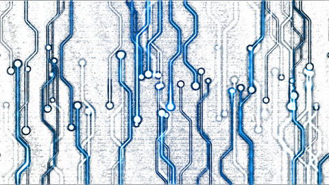 Abstract Technology Circuit Background - Loop Blue Animation