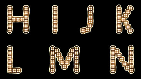 Light Bulbs Font Alphabet Letters And Numbers Set