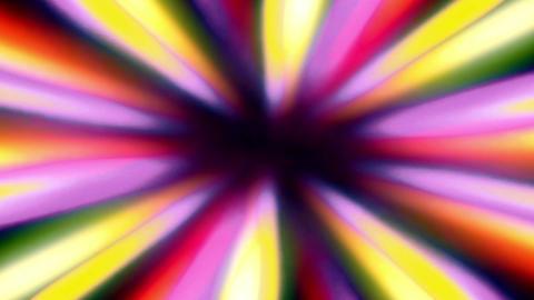Shiny Sunburst Rays Multicolored Rotation Beaty Loop Background Animation