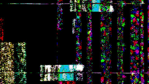 Vertical Noise Glitch Video Damage Animation