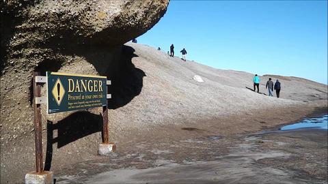 Castle Point reef danger sign Footage